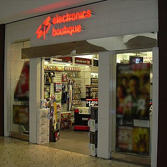 EB Games - An Electronics Boutique store (later GameStop) at Ann Arbor, Michigan's Briarwood Mall in October 2009. It closed on January 20, 2013.