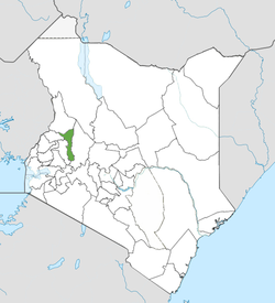 Location of Elgeyo-Marakwet County (Green)