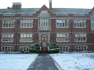 Reed College - Reed College's Eliot Hall on a rare snowy day