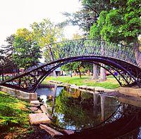 Puente de hierro de Elm Park Worcester Massachusetts