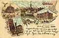 Emil Pinthus Nachf. PC 2172 AR Gruss aus Linden vor Hannover. Bildseite Rathaus Neuer Markt Marktbrunnen signiert AR 2172 Lithografie.jpg
