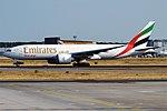 Emirates SkyCargo, A6-EFF, Boeing 777-F1H (29447153797).jpg