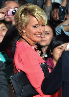 Emma Thompson British actress and writer
