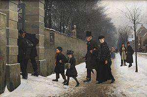 Frants Henningsen - Image: En begravelse (Frants Henningsen)