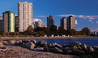 English Bay (Vancouver) - Image: English Bay First Beach
