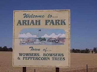 Ariah Park - Image: Entering Ariah Park