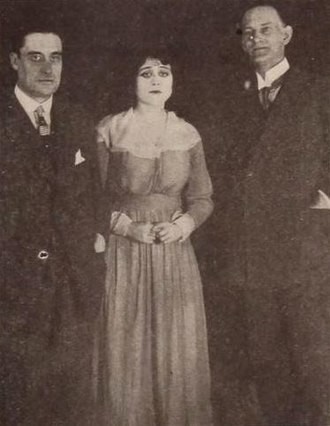 Harry Engholm - Ernest Reed, Theda Bara and Harry Engholm (1917)