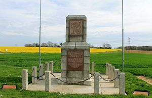 Operation Jupiter (1944) - Memorial to the 43rd (Wessex) Division on Hill 112.