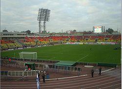 Zenit's home ground at Petrovsky stadium in Saint Petersburg, Russia