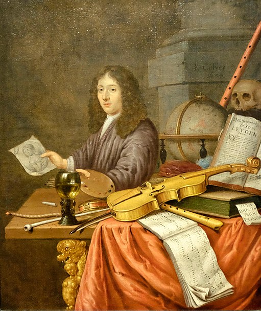 File:Evert Collier's Self-Portrait with a Vanitas Still-life.jpg