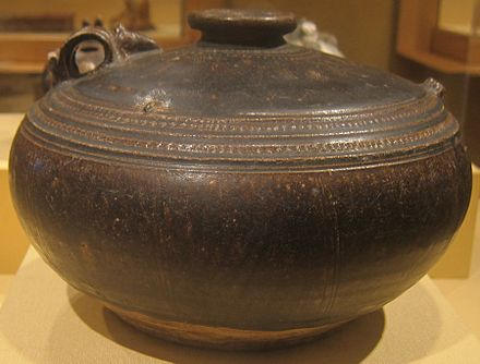 Glazed stoneware dating back to the 12th century Ewer from Cambodia, Angkorian era, 12th century, glazed stoneware, HAA.JPG