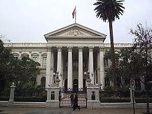 Edificio del ex-Congreso Nacional de Chile.