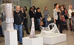 Exhibition Plein Air Snowy Summer National Library 22.01.2015 Oleg Ustinovich.JPG