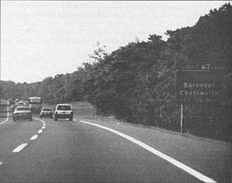 Garden State Parkway - Picture of exit 67 sign in Barnegat, New Jersey