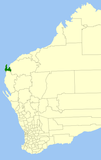 Shire of Exmouth - Location in Western Australia