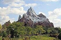 Expedition Everest train ascending lift (Disney's Animal Kingdom).jpg