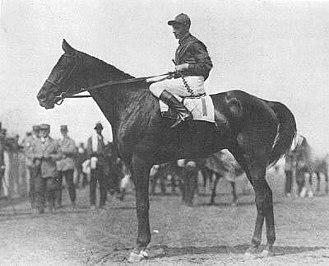 Albert Johnson (jockey) - Albert Johnson aboard Exterminator, 1922