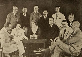 Albert Parker (director) - Parker at left with the cast from Eyes of Youth (1919)