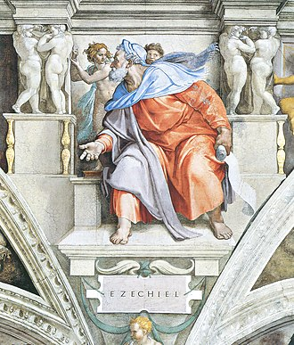 Ezekiel - Ezekiel, as depicted by Michelangelo on the Sistine Chapel ceiling