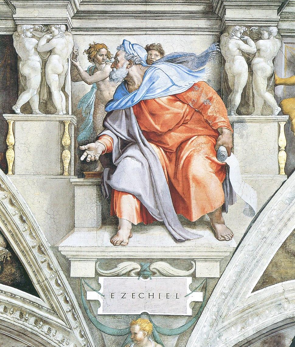 Ezekiel by Michelangelo, restored - large