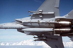 McDonnell Douglas F-15 Eagle - F-15C underside with external stores