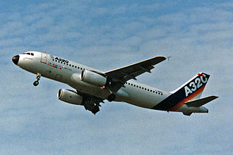 History of Airbus - Airbus A320, the first model in the A318, A319, A320 and A321 family, introduced in 1988