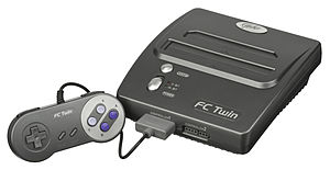 Video game clone - The FC Twin, a popular clone system compatible with game cartridges for the original Nintendo Entertainment System and the Super NES.