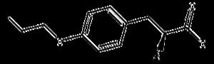 Fluoroethyl-L-tyrosine (18F) - Image: FET structure