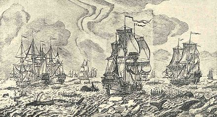 Whaling in the Basque fisheries (1720)