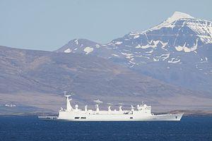 French ship Monge - Image: FS Monge A601 Reykjavik 2