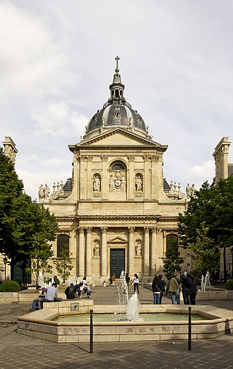 Paris-Sorbonne University - Sorbonne in the Latin Quarter in Paris, France. Historical house of the former University of Paris, and main university building of its successor Paris-Sorbonne University 1971-2017.