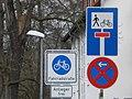 Fahrradstrasse 'Auf der Weide', geöffnete Radroute statt Sackgasse für Marburg 2016-03-30.JPG