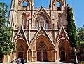 Famagusta - Gazimagusa Lala-Mustafa-Pasha-Moschee (Nikolauskathedrale) Fassade 5.jpg