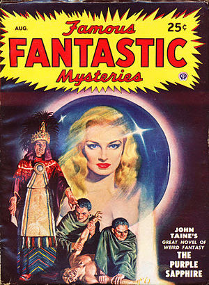 Eric Temple Bell - The Purple Sapphire was reprinted in the August 1948 issue of Famous Fantastic Mysteries