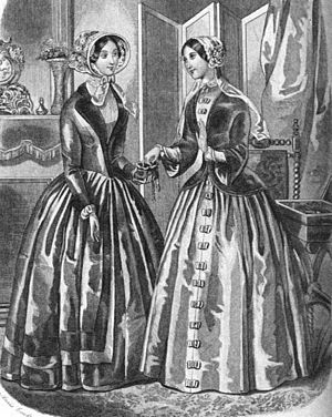 Graham's Magazine - Fashion plate from an 1849 issue of Graham's Magazine.