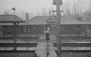 Montréal-Ouest station - The station in October 1946.