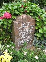 Felix Scheffier's grave