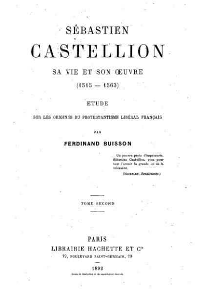 File:Ferdinand Buisson - Sébastien Castellion - Tome 2.djvu