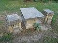 Festetics Palace Park. Stone garden furniture, Keszthely, 2016 Hungary.jpg