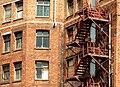 Fire escape, Belfast - geograph.org.uk - 1421398.jpg