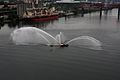 Fireboat shows off, at dusk -a.jpg