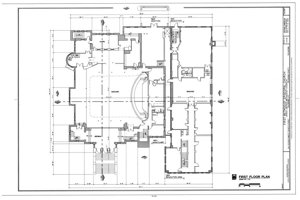 File First Floor Plan First Methodist Episcopal Church