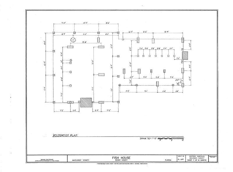 File:Fish House, Macclenny, Baker County, FL HABS FL-397 (sheet 7 of 10).tif