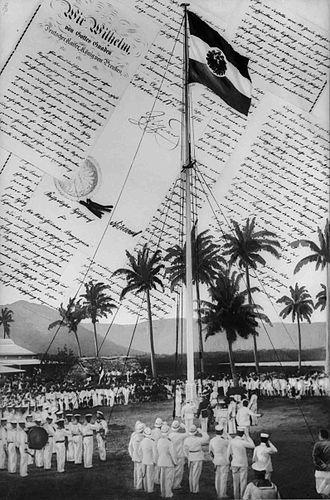 Flag of Samoa - Image: Flaggenhissung Samoa