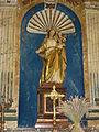 Flaignes (Ardennes) église, statue madonna et enfant.JPG