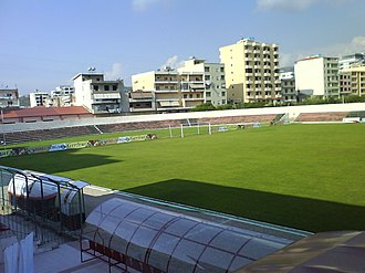 2017–18 Albanian Superliga - Image: Flamurtari Stadium North Stand