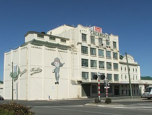Gore, New Zealand - Fleming's Rolled Oats factory, a major landmark in central Gore.