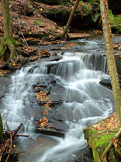 Waterfall at Maurice K. Goddard State Park