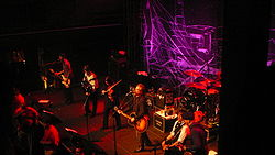 Flogging Molly performing live in Baltimore, MD, in February 2010
