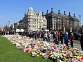 Flowers for the Westminster Attack in Parliament Square, 27 March 2017 (33555616561).jpg